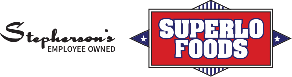 A logo footer of Superlo Foods
